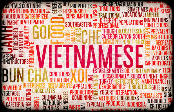Vietnamese Food Menu Stock photo © kentoh