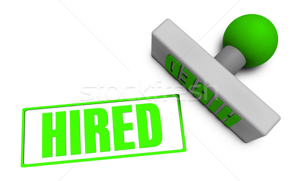 Hired Stamp Stock photo © kentoh
