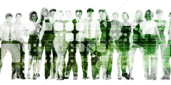 Munka vezetőség fejlesztés munka medence ipar Stock fotó © kentoh