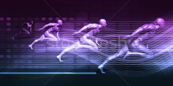 Integración tecnología futurista arte fondo Foto stock © kentoh