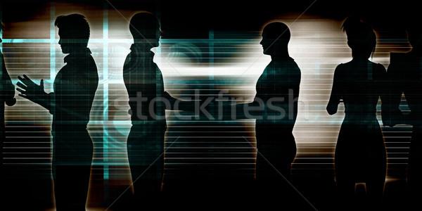 Gente de negocios reunión ideas negocios resumen Foto stock © kentoh