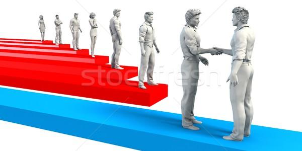 Foglalkoztatás állás tökéletes foglalkoztatott jelölt jövő Stock fotó © kentoh