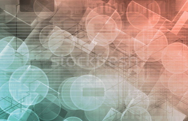 Iş genetik DNA araştırma inşaat teknoloji Stok fotoğraf © kentoh
