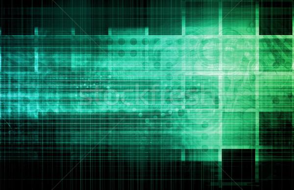 Negócio integração modelo fundo informação engenharia Foto stock © kentoh