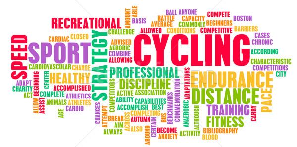 Ciclismo bicicleta esportes montanha viajar Foto stock © kentoh
