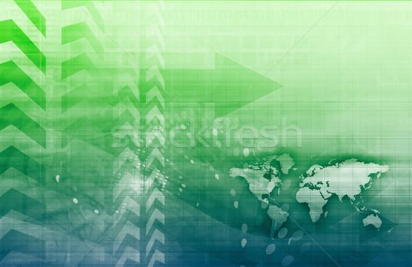 Sécurisé réseau mondial protection données art Photo stock © kentoh
