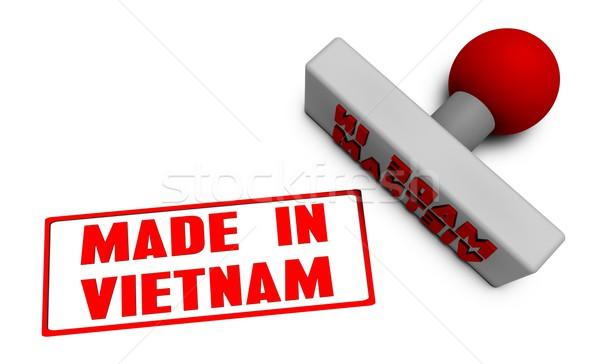 Viêt-Nam tampon papier 3D fruits Photo stock © kentoh