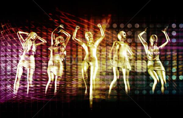 Plaj deli olmak parti disko dans kızlar Stok fotoğraf © kentoh