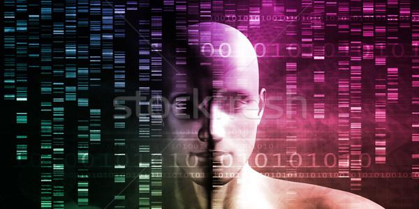 Medische technologie wetenschapper ingenieur dna abstract Stockfoto © kentoh