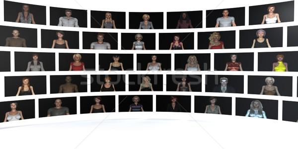 Kalma web sitesi uygulama farklı kullanıcı seksi Stok fotoğraf © kentoh