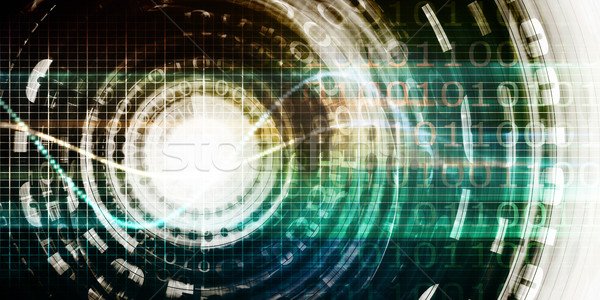 Futurisztikus technológia porta digitális üzlet Stock fotó © kentoh