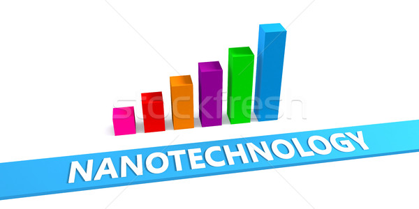 Nanotechnologia dobre wykres postęp Zdjęcia stock © kentoh