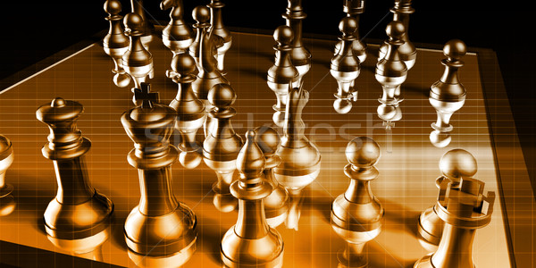 Stockfoto: Strategisch · beheer · business · oorlog · schaken · achtergrond