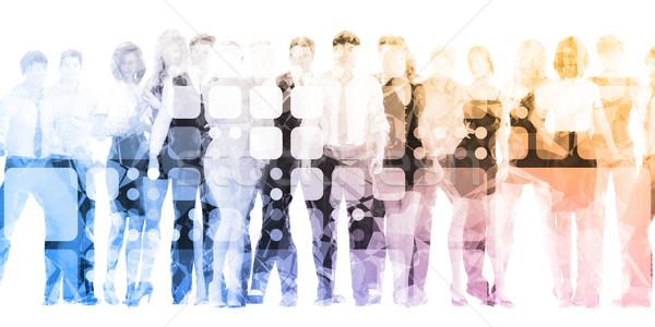 Fejlődő munkaerő tehetség cég boldog háttér Stock fotó © kentoh