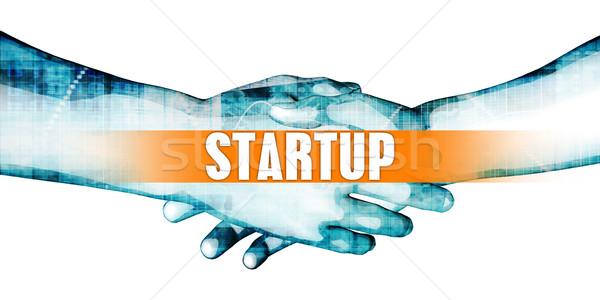Inicio empresarios apretón de manos blanco manos fondo Foto stock © kentoh