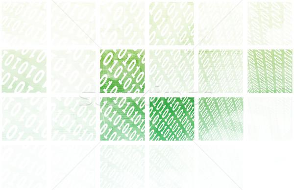 Stockfoto: Binair · stream · communicatie · kunst · computer