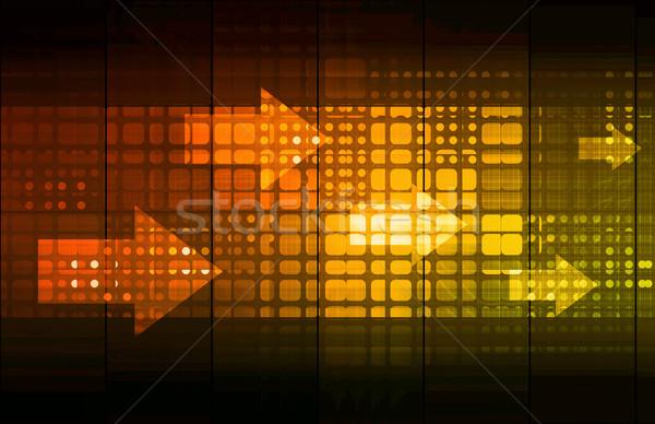 Negócio mobilidade acessar tecnologia fundo rede Foto stock © kentoh