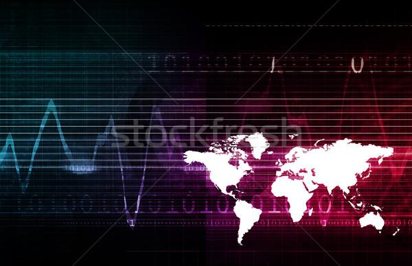 Multimedialnych technologii tle sieci przemysłu danych Zdjęcia stock © kentoh