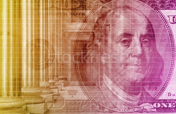 Finansów arkusz kalkulacyjny tech wykres sztuki tle Zdjęcia stock © kentoh
