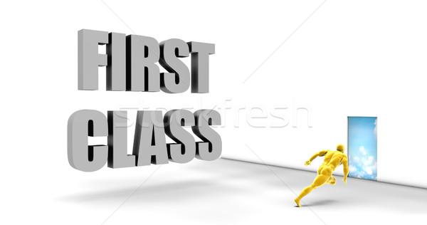 Pierwsza klasa szybko utwór kierować pośpieszny ścieżka Zdjęcia stock © kentoh