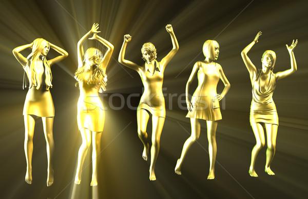 Disco Party Girls Celebrating Stock photo © kentoh