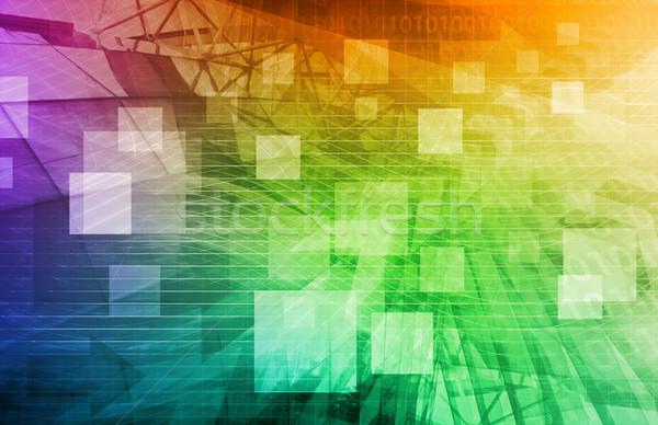 Wereldwijde business logistiek software ondersteuning kunst netwerk Stockfoto © kentoh