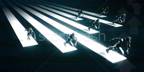 強い リーダーシップ リーダー 方法 抽象的な ストックフォト © kentoh