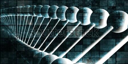 DNS spirál absztrakt tudomány genetikai művészet Stock fotó © kentoh