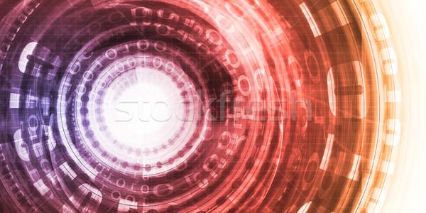 Données analytics analyse technologie logiciels solutions Photo stock © kentoh