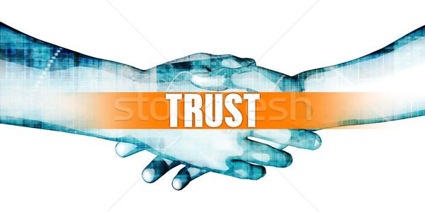 Zaufania biznesmenów handshake biały działalności streszczenie Zdjęcia stock © kentoh