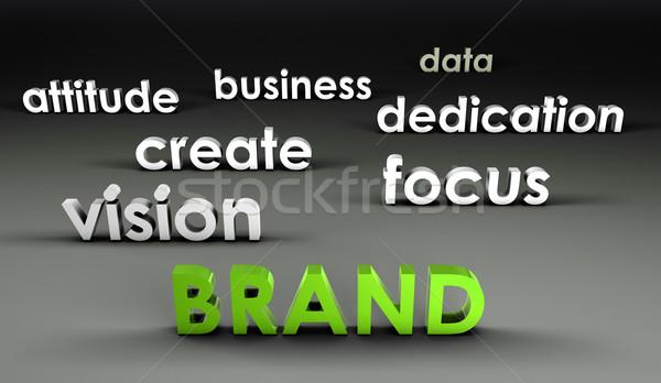 Merk 3D presentatie business achtergrond corporate Stockfoto © kentoh