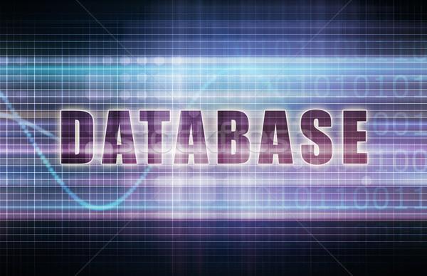 Database tech business grafico arte abstract Foto d'archivio © kentoh