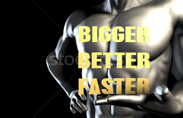 Bigger better faster Stock photo © kentoh