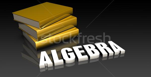 Algebra istruzione libri libro web Foto d'archivio © kentoh