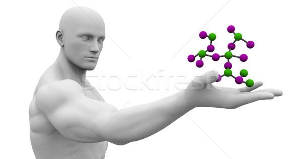 Jövő egészségügy tudomány üzlet férfi technológia Stock fotó © kentoh