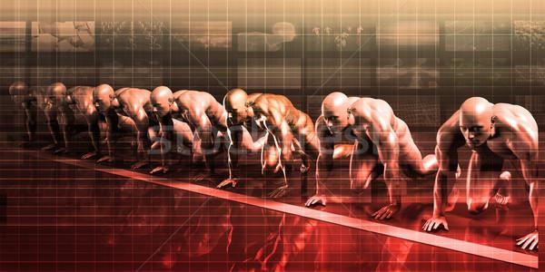 Prestaties beheer strategisch oplossing werknemer sport Stockfoto © kentoh