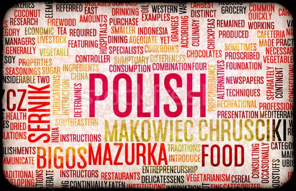 Polish Food Menu Stock photo © kentoh