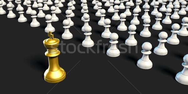 Negocios ajedrez estrategia rey ejército fondo Foto stock © kentoh