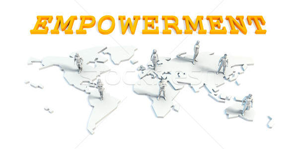 Empowerment Concept with Business Team Stock photo © kentoh