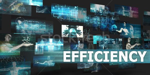 Eficiencia presentación tecnología resumen arte Internet Foto stock © kentoh