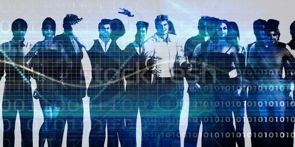 Squadra spirito squadra di affari missione business uomini Foto d'archivio © kentoh