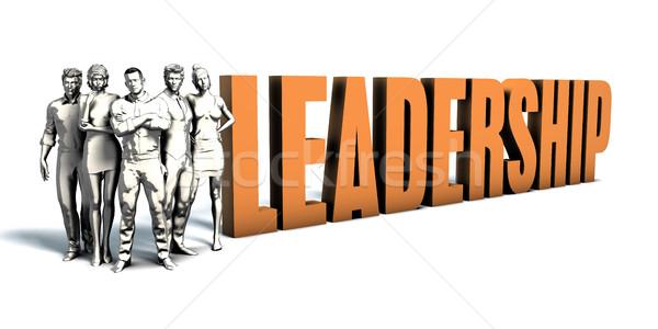 Zakenlieden leiderschap kunst team business Stockfoto © kentoh