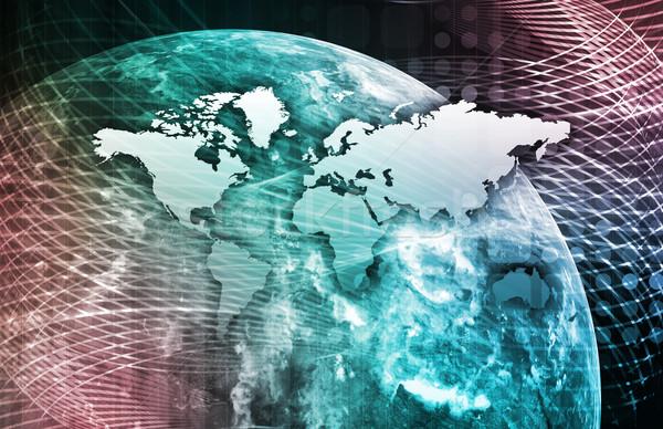 Geïntegreerd oplossingen web internet kruis Stockfoto © kentoh