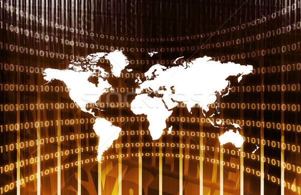 Globális üzlet üzlet háttér biztonság háló fekete Stock fotó © kentoh