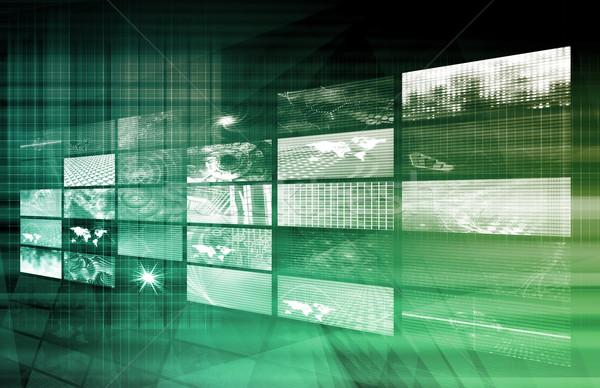 Internet multimedia ordenador oficina mundo Foto stock © kentoh