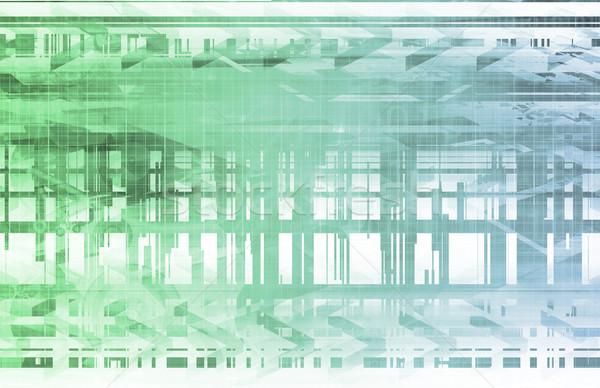 Implantaat technologie achtergrond ruimte robot toekomst Stockfoto © kentoh