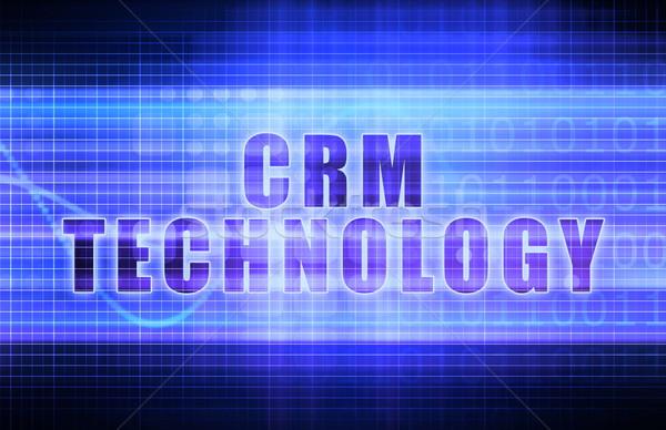 Crm tecnologia tech business grafico arte Foto d'archivio © kentoh