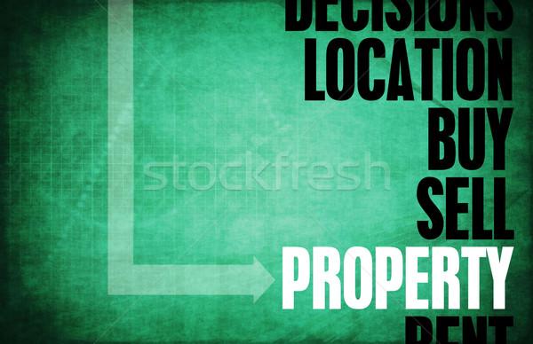 Eigendom kern principes business retro digitale Stockfoto © kentoh