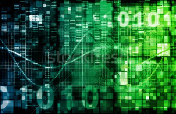 Kommunikation Software Technologie Werkzeuge Computer Internet Stock foto © kentoh