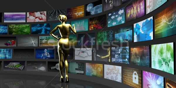 Videó technológia képek tartalom streamelés digitális Stock fotó © kentoh